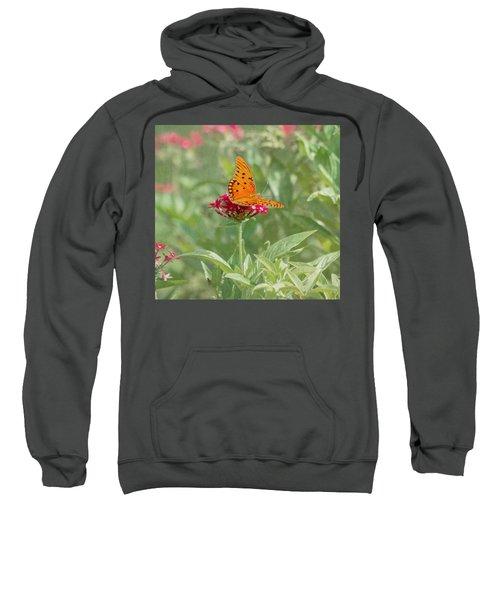 At Rest - Gulf Fritillary Butterfly Sweatshirt