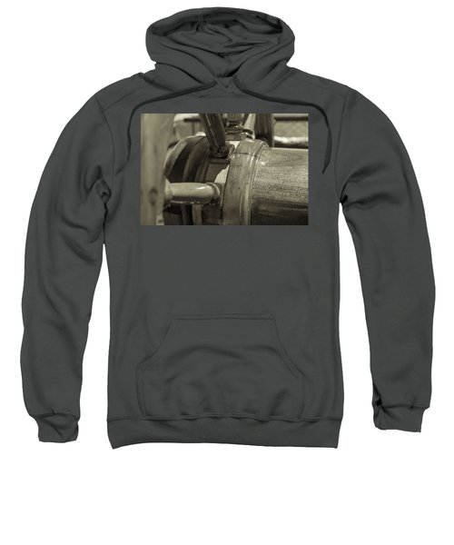At The Helm Black And White Sepia Sweatshirt