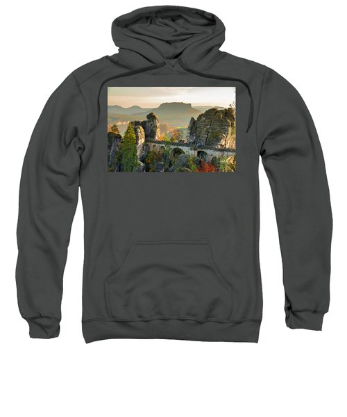 Autumn Afternoon On The Bastei Bridge Sweatshirt