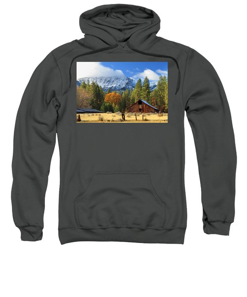 Autumn Barn At Thompson Peak Sweatshirt