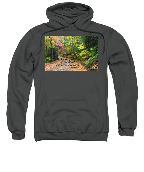 Autumn Path With Scripture Sweatshirt