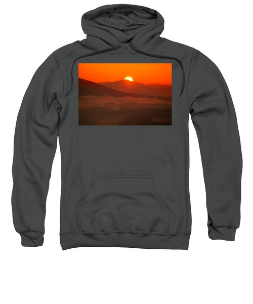 Autumn Sunrise On The Lilienstein Sweatshirt