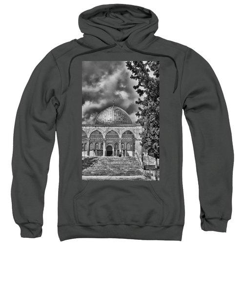 Awaiting The Hour Of Prayer Bw Sweatshirt