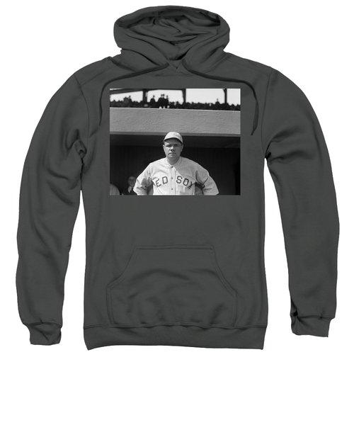 Babe Ruth In Red Sox Uniform Sweatshirt