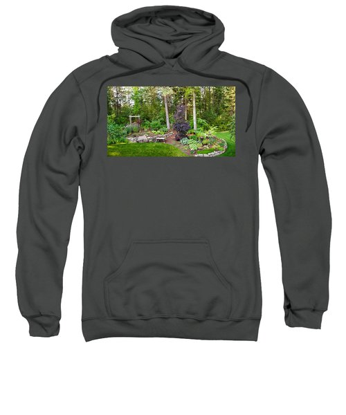 Backyard Garden In Loon Lake, Spokane Sweatshirt
