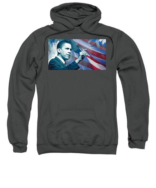 Barack Obama Artwork 2 Sweatshirt by Sheraz A