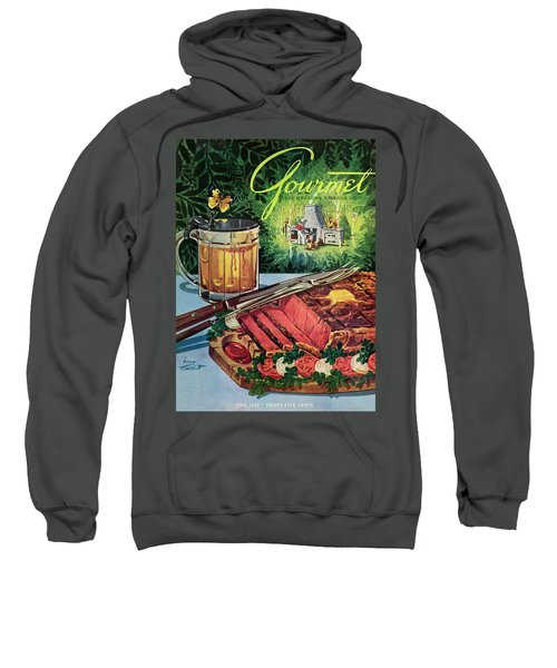 Barbeque Meat And A Mug Of Beer Sweatshirt