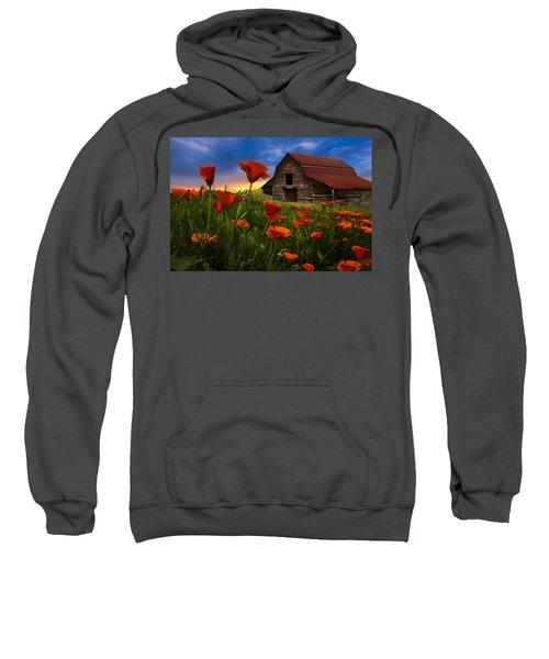 Barn In Poppies Sweatshirt