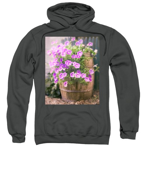 Barrel Of Flowers - Floral Arrangements Sweatshirt