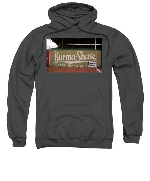 Baseball Field Burma Shave Sign Sweatshirt