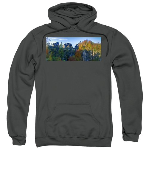 Bastei Bridge In The Elbe Sandstone Mountains Sweatshirt