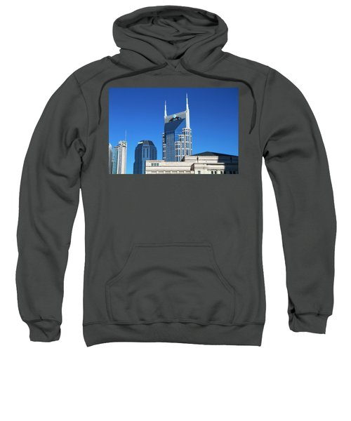 Batman Building And Nashville Skyline Sweatshirt by Dan Sproul