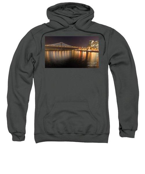 Bay Bridge Lights And City Sweatshirt