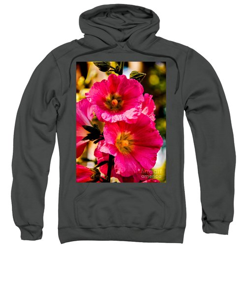 Beautiful Pink Hollyhock Sweatshirt