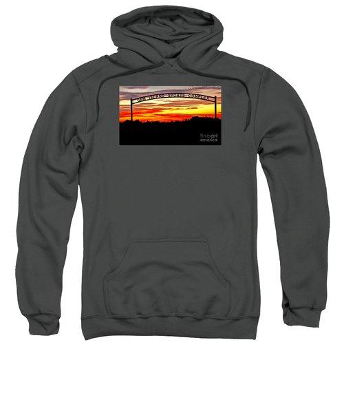 Beautiful Sunset And Emmett Sport Comples Sweatshirt by Robert Bales
