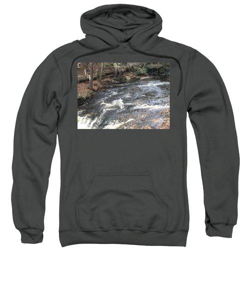 Beginning Of The Bushkill Waterfall Drop Sweatshirt