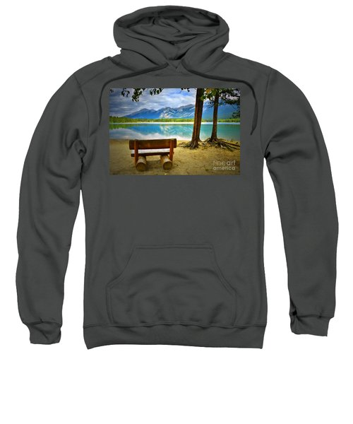 Bench View At Lake Edith Sweatshirt