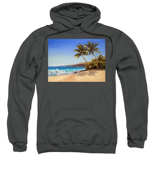 Hawaiian Beach Seascape - Big Island Getaway  Sweatshirt
