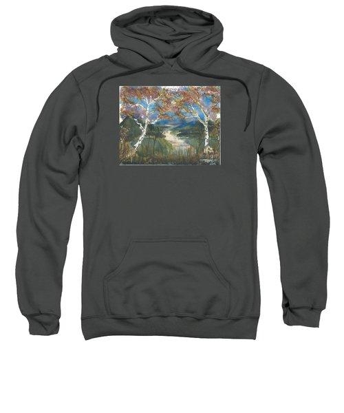 Birch Trees On The Ridge  Sweatshirt