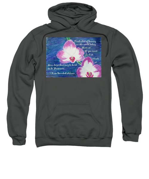 Sweatshirt featuring the painting Bit Of Beauty For Lisa by Denise Railey