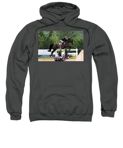 Black And Purple Sweatshirt