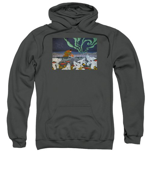 Sweatshirt featuring the painting Blessing Of The Polar Bears by Chholing Taha