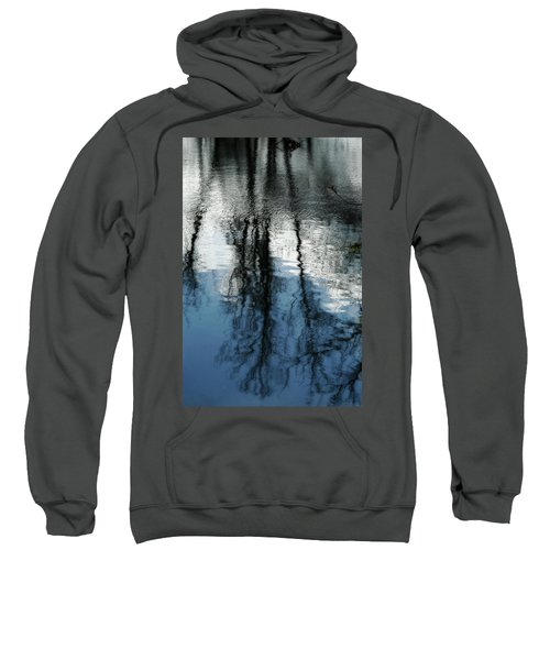 Blue And White Reflections Sweatshirt