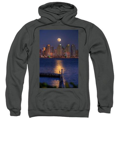 Blue Heron Moon Sweatshirt