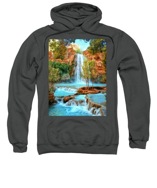Blue Pool At Havasupai Falls Sweatshirt