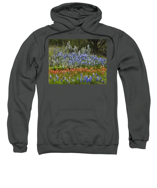 Bluebonnets Paintbrush And Prickly Pear Sweatshirt