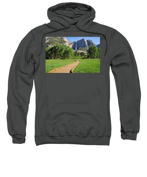 Boardwalk To Yosemite Falls  Sweatshirt
