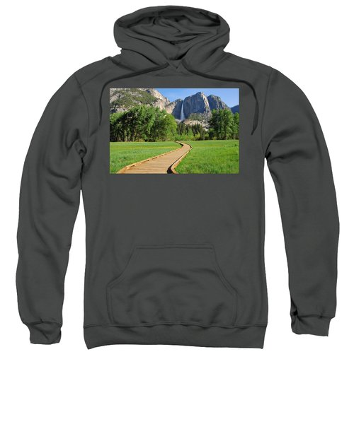 Boardwalk To Yosemite Falls  Sweatshirt