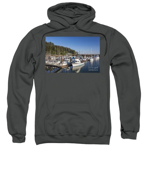 Boats Moored At Charleston Marina Sweatshirt