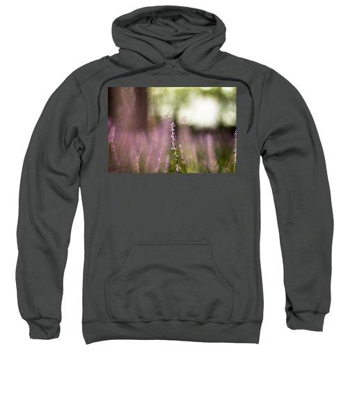 Bokeh With Purple Wildflower Sweatshirt
