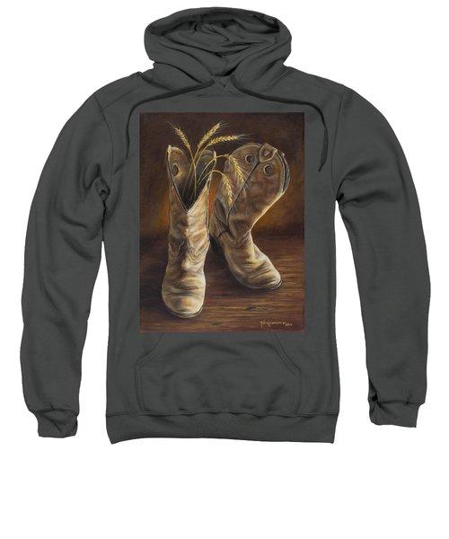 Boots And Wheat Sweatshirt