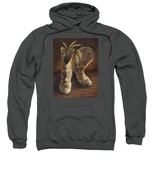 Boots And Wheat Sweatshirt