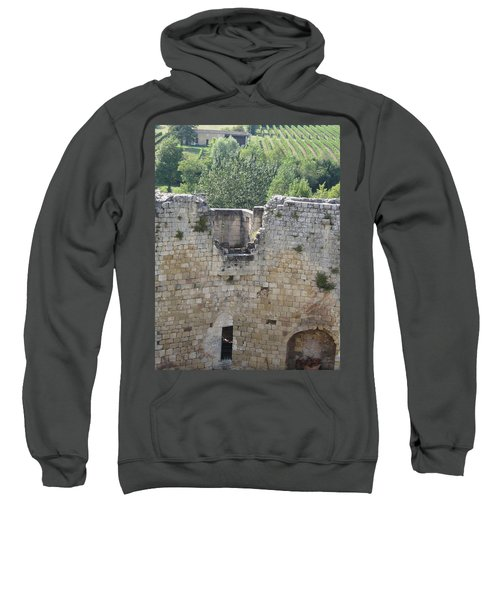 Bordeaux Castle Ruins With Vineyard Sweatshirt