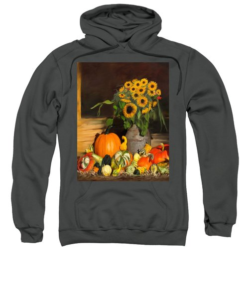 Bountiful Harvest - Floral Painting Sweatshirt