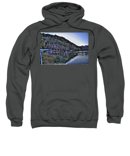 Bridge On A Lake Sweatshirt by Jonny D