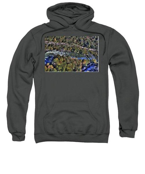Bridge Over River Sweatshirt by Jonny D