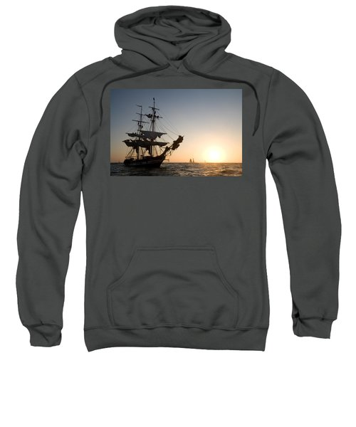 Brig Pilgrim At Sunset Sweatshirt