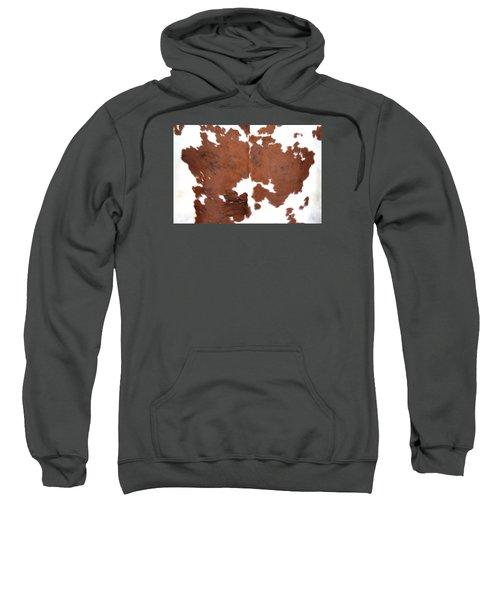 Brown Cowhide Sweatshirt