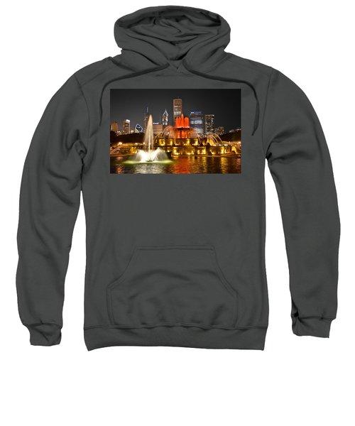 Buckingham Fountain At Night Sweatshirt
