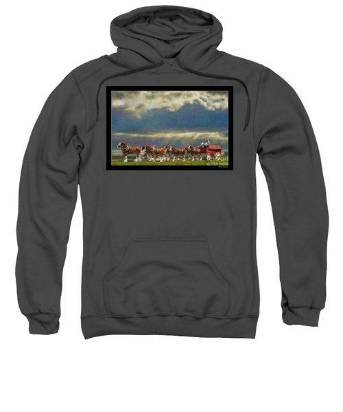 Budweiser Clydesdale Paint 2 Sweatshirt