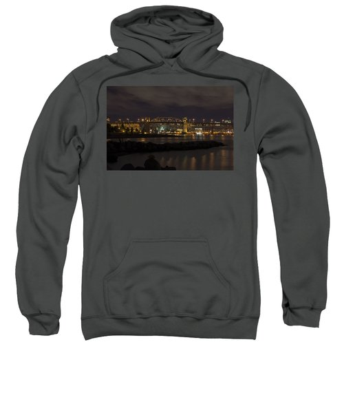 Sweatshirt featuring the photograph Burrard Bridge by Ross G Strachan