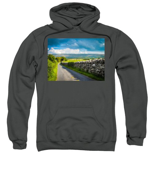 Sweatshirt featuring the photograph Burren Country Road In Ireland's County Clare by James Truett