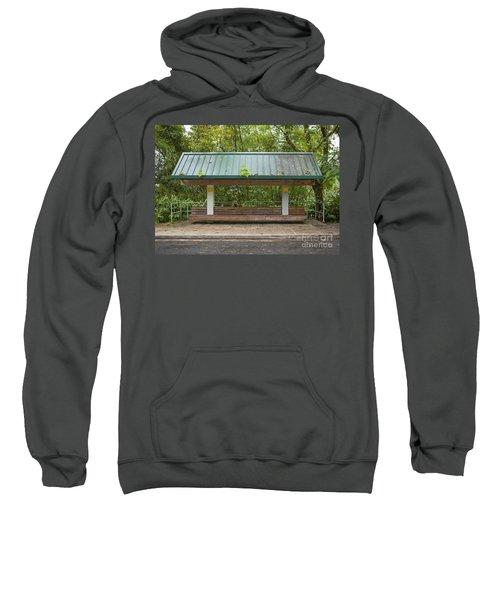 Bus Stop Bench In The Rainforest  Sweatshirt