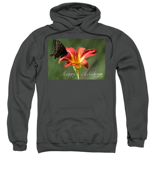 Butterfly And Lily Holiday Card Sweatshirt