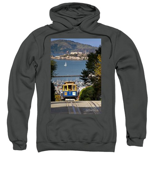 San Francisco Cable Car On Hyde Street Print By Brian Jannsen Photography Sweatshirt