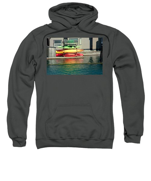 Canoes On Rack Sweatshirt